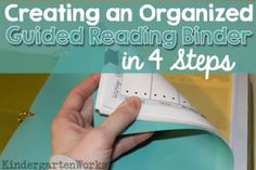 organizing a guided reading binder in 4 steps