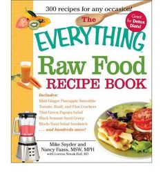 Suitable for those looking to go completely raw or just incorporate some raw aspects into their diet, this book offers 300 delicious recipes. It features recipes that are easy to prepare and take less prep and cleanup time than cooked food. It includes: mint-ginger pineapple smoothie