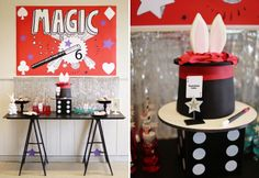 Looking for a kids party theme? How about Magic Guest Dessert Feature and hire a Magician.