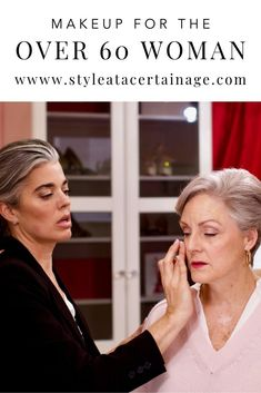 In this post Nikol Johnson of Fresh Beauty Studio demonstrates a classic everyday makeup look on Beth from St Short Hair Older Women, Older Women Hairstyles, Over 60 Hairstyles, Makeup For Over 60, Make Up Looks, Makeup Tips For Older Women, Older Woman Makeup, Over 60 Fashion, 50 Fashion