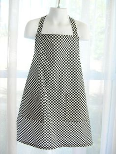 Checkered Flag Racing Apron by izzypat on Etsy (Accessories, Apron, Children, Race car, flag)
