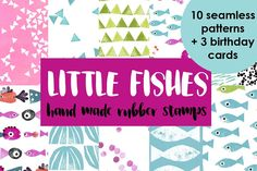 LITTLE FISH STAMPS by Bluefingers on @creativemarket