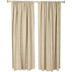 Set+of+two+cotton+curtain+panels+in+beige+and+ivory.+Made+in+the+USA. + Product:+Set+of+2+curtain+panelsConstruction+Mat...