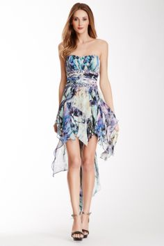 Strapless Printed Hi-Lo Dress on HauteLook