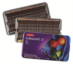 Derwent Colored Pencils Colorsoft Drawing Art Metal Tin 72 Count 0701029 Crafts for sale online Pencil Drawings, Art Drawings, Drawing Art, Derwent Colored Pencils, Soft Colors, Vibrant Colors, Artist Pencils, Still Life Drawing, Drawing Letters