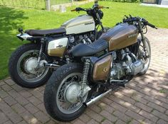 Goldwing duo, caferacer + streettracker