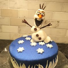 Olaf Birthday Cake for Boy