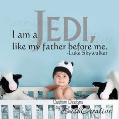 i know the more i pin star wars baby room references the more my hubby will want to outfit our future baby's room in star wars.  but i can't help it; it's cute.