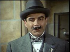 Hercule Poirot by Agatha Christie : most famous Belgian (and he doesn't even exist! Agatha Christie's Poirot, Hercule Poirot, Pbs Mystery, Death In The Clouds, David Suchet, You Make Me Laugh, Thought Of The Day, Hercules, Detective