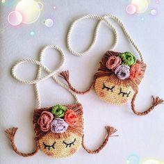 Crochet Case, Crochet Purses, Crochet Gifts, Crochet Motif, Diy Crochet, Crochet Dolls, Crochet Hat Tutorial, Crochet Dragon, Art Textile