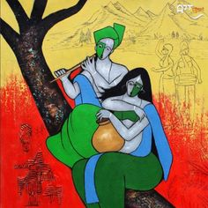 Artist: Chetan Katigar Size: X inch (WxH) Painting: Acrylic on Canvas Figure Painting, Love Painting, Painting, Impressionist Paintings, Modern Art Paintings, Art Deco Paintings, Online Painting, Krishna Painting, Nature Paintings