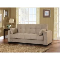 "$399.99; 36.61 "" H x 85.43 "" W x 34.65 "" D; Lexington Convertible Sofa Bed - Khaki from Target"