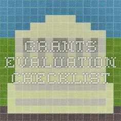 Grants Evaluation Checklist from the federal government Archives.gov