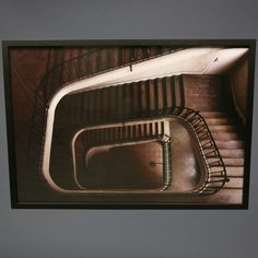 """""""Limited Edition Poster Paris Staircase, Downview"""" Black Frame - William Curtis Rolf - Contemporary Artists at Voila Staircase Pictures, Richard Castle, Castle Tv Shows, Modern Photography, Limited Edition Prints, Stairways, Contemporary Artists, Photo Art, Paris"""