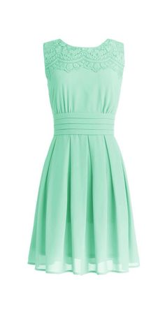 Dressystar Short Prom Party Bridesmaid Gowns with Appliques Neckline Size 6  Mint 0dc7864d4