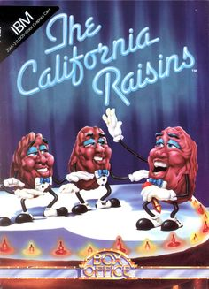 """In 1984 the California Dancing Raisin was introduced to increase awareness and demand for California raisins. The first animated 30-second commercial used singer and musician Buddy Miles as the vocalist for the soundtrack """"Heard it Through the Grapevine"""" which was originally recorded by Marvin Gaye. The groovy, sunglass-wearing Raisins starred in an Emmy-nominated 1989 TV special, Meet the Raisins, and had their own Saturday-morning cartoon series on CBS from 1989 – 1990."""