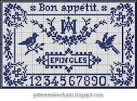 Free Sajou cross-stitch patterns.