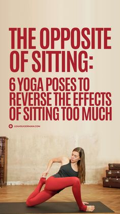 """""""Yoga for sitting all day"""" is a common search in Google because the effects of sitting all day can be truly detrimental. Counter a sedentary life with these 6 yoga poses. Yin Poses, Yoga For Back Pain, Yoga Philosophy, Gentle Yoga, Yoga Pictures, Yoga Nidra, Yoga For Flexibility, Yoga Poses For Beginners, Yoga Teacher Training"""