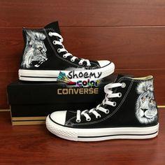 8fc0da842143aa Mens Converse Shoes Lion Hand Painted High Top Canvas Sneakers.  ChaussureChaussures De Sport ModeBottes À La ModeChaussures Converse HommesHautes  ...