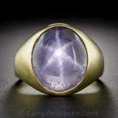 10.00 Carat Star Sapphire Gent's Ring