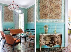 Esta hermosa casa colonial de La Habana, tiene diferentes inspiraciones que se combinan de una forma exquisita.