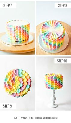 Gotta love a Petal Cake Cupcakes, Cupcake Cakes, Rainbow Petal Cake, Birthday Cake For Mom, 5th Birthday, Birthday Cakes, Birthday Ideas, Soap Cake, Cake Decorating Supplies