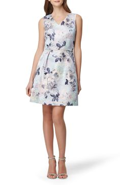 New Tahari Sleeveless Floral Jacquard Fit Flare Dress womens fashion dresses. offers on top store Fit Flare Dress, Flare Skirt, Fit And Flare, Plus Size Blouses, Nordstrom Dresses, Women's Fashion Dresses, Dresses Online, Dresses With Sleeves, Clothes For Women