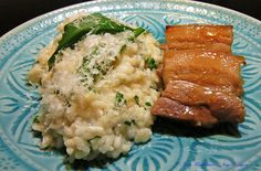 Teriyaki-Schweinebauch mit Bärlauch-Risotto - https://www.facebook.com/media/set/?set=a.742535099178212.1073742080.504055336359524&type=3&uploaded=6