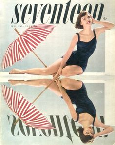 cMag071 - Seventeen Magazine cover by Cipe Pineles / July 1949