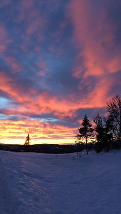 Winter sky, New Years Eve, Aurdal Norway