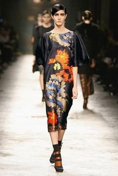 more dries van notten... the combination of colors on this dress are beautiful