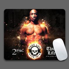 TUPAC HD Mouse Pad Computer Gaming Mouse Pads