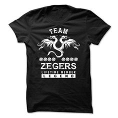 Awesome Tee TEAM ZEGERS LIFETIME MEMBER T shirts