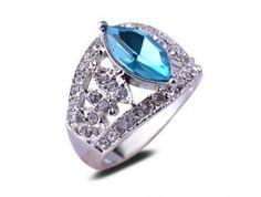 Prsteň Blue Marquise