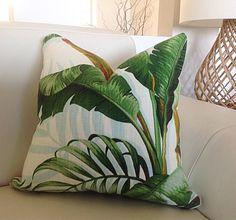 Cushions Tropical Pillows, Palmier Tropical Cushion Covers, Green Cushions, Scatter Cushion, Green Pillow, Palms.