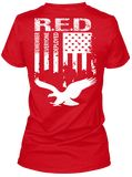 Wear this T shirt and Show your Support our Troops and honor our Veterans!! Original RED Friday Flag Remember Everyone Deployed T-Shirt