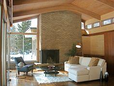 Mid Century Modern Rustic Living Room sisal rug on dark wood floor | decor | pinterest | dark, pillows