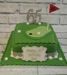 65th golf theme cake More