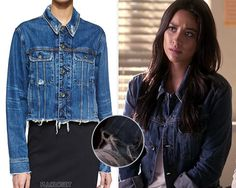 """pllcloset: """" Emily's distressed denim jacket from Rag & Bone she'll wear in the Season 6B premiere, 6x11 'Of Late I Think Of Rosewood' is unfortunately sold out everywhere except Nelly below for UK..."""