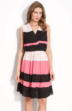 Taylor Dresses Stripe Georgette Dress available at Nordstrom Pink Outfits, Cute Outfits, Tulip Dress, Taylor Dress, Bold Stripes, Nordstrom Dresses, Striped Dress, Wrap Dress, Summer Dresses