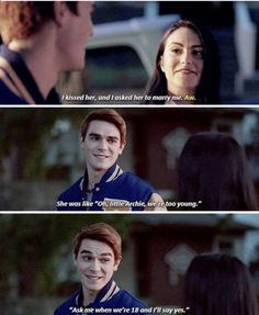 Archie doesnt deserve Betty>>he is obviously jealous that her and juggie are dating