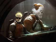 Calvin and Hobbes in a Gritty Sci-Fi Future by Anthony Jones. Calvin Und Hobbes, Alternative Kunst, Anthony Jones, Comic Art, Comic Books, Geek Art, Cultura Pop, Comic Character, Fantasy Art