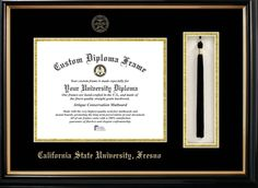 Gorgeous diploma frame with tassel. https://www.fanprint.com/licenses/air-force-falcons?ref=5750
