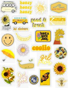 Yellow Vintage Stickers - Laptop - Ideas of Laptop - Yellow Vintage Sticker pack vintage retro old school dark yellow flowers sunflowers yellow orange yellow van record player Homemade Stickers, Diy Stickers, Printable Stickers, Planner Stickers, Red Bubble Stickers, Sticker Ideas, Wallpaper Backgrounds, Iphone Wallpaper, Wallpaper Art