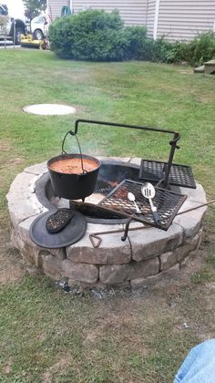 Grandpa Jake's outdoor cooking system- recommended by The Forgotten Way Farms blog (homesteading)