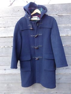 Vintage Gloverall  of England coat blue Duffle by Simplemiles, $100.00
