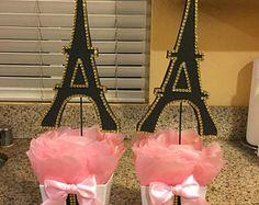 Paris Eiffel Tower Centerpiece-Party theme,Paris baby shower- Paris wedding-Paris sweet 16-Paris bridal shower Baby Shower Paris, Paris Bridal Shower, Bridal Shower Cakes, Bridal Showers, Paris Party Decorations, Paris Sweet 16, Eiffel Tower Centerpiece, Paris Invitations, Paris Gifts