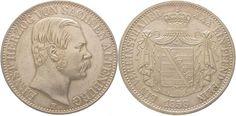 Sachsen-Altenburg Ernst 1853-1908. Taler 1858 F Vorzüglich - Stempelglanz