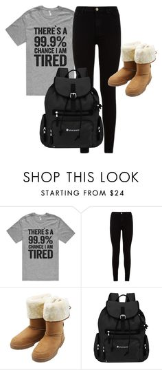 """""""99.9% chance that in tired"""" by kayleighmw on Polyvore featuring 7 For All Mankind, M&Co and Sherpani"""