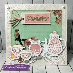Sara's Vintage Tea Party Collection #crafterscompanion
